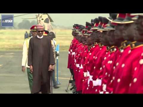 Nigeria's President Mohamadou Buhari arrives in Kenya for state visit
