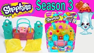Shopkins Season 3  Opening Video 12 Pack Mystery Surprise Toy Unboxing Shopping Blind Bags