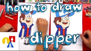 How To Draw Dipper From Gravity Falls