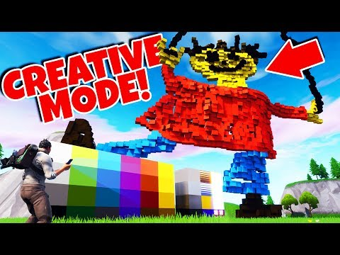 Building Giant Playtime In New Fortnite Creative Mode It S So