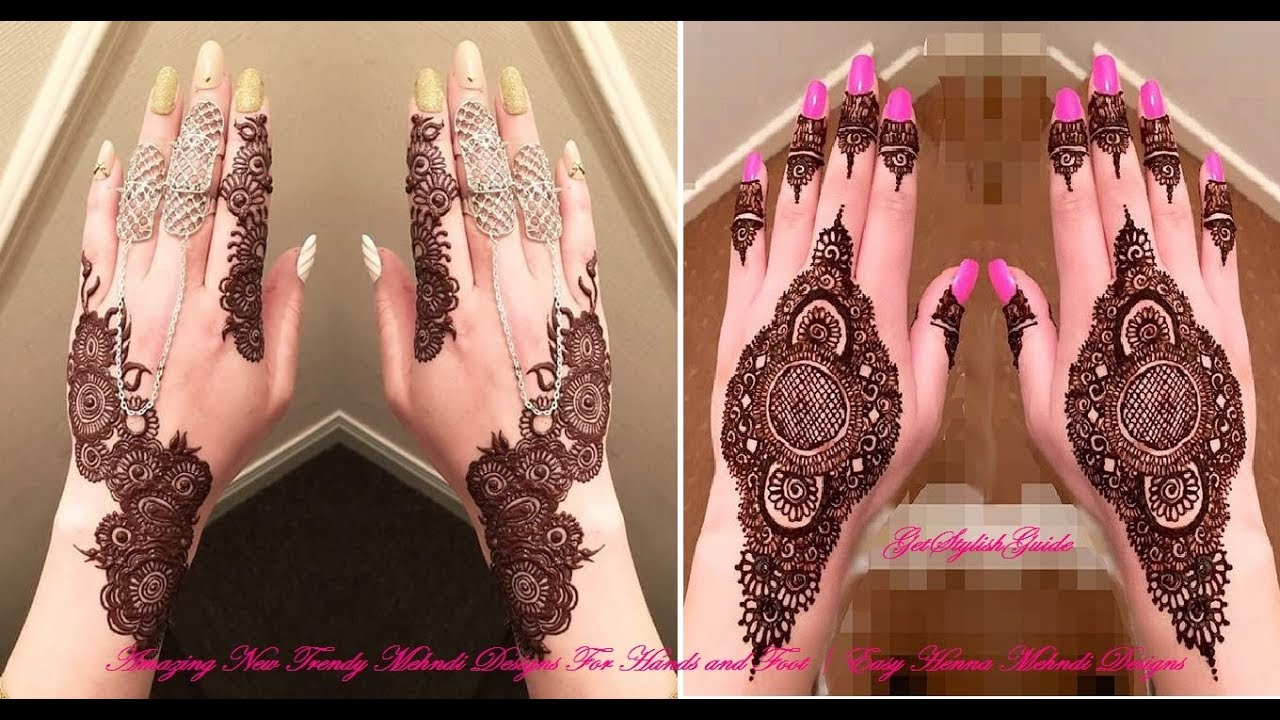 Amazing New Trendy Mehndi Designs For Hands And Feet Easy Henna