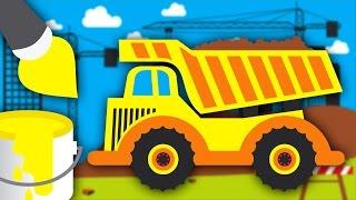 Kolorowanka - Kolorowanie Ciężarówki - Nauka kolorów dla dzieci | CzyWieszJak