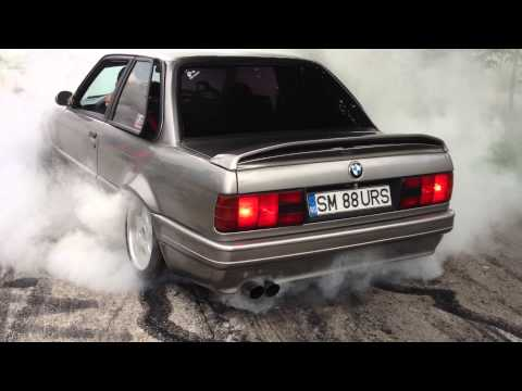 BMW E30 V8 BURNOUT