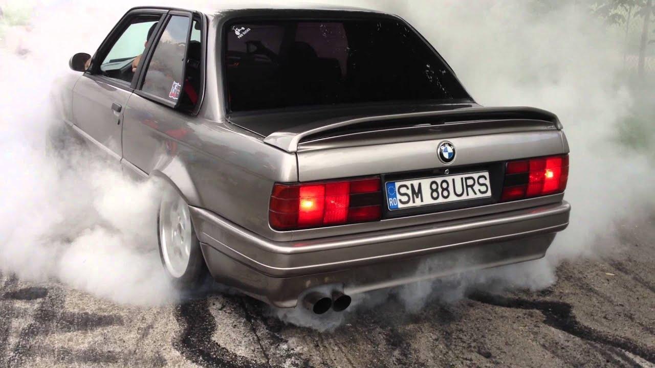 Bmw E30 V8 Burnout  Bmw E30 Meeting