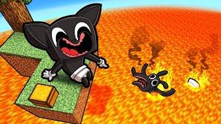 Volcano Skyblock with...Baby Cartoon Cat & Cartoon Dog! (Minecraft)