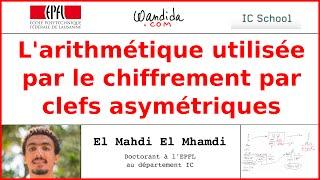 L'arithmétique utilisée par le chiffrement par clefs asymétriques | El Mahdi El Mhamdi