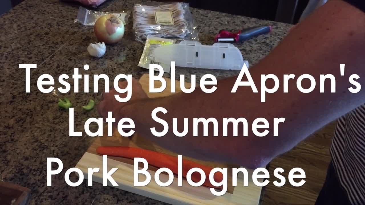 Blue apron bolognese - Meal Kit Mania Matt Makens Tries Blue Apron S Late Summer Pork Bolognese