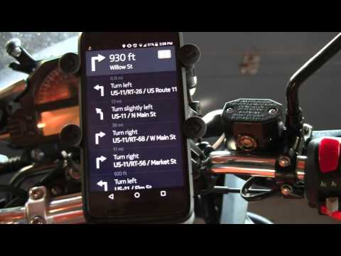 Using your cell phone or tablet for navigation on a motorcycle