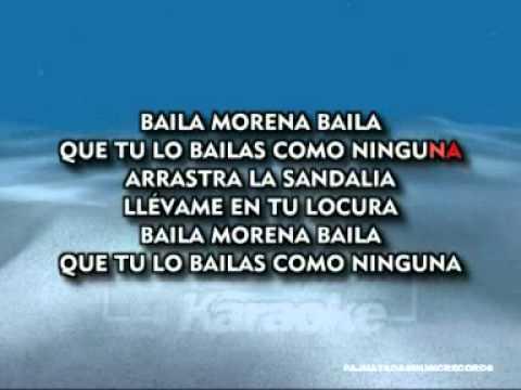 KARAOKE. /  BAILA MORENA BAILA /   JULIO IGLESIAS