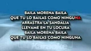KARAOKE. BAILA MORENA BAILA JULIO IGLESIAS