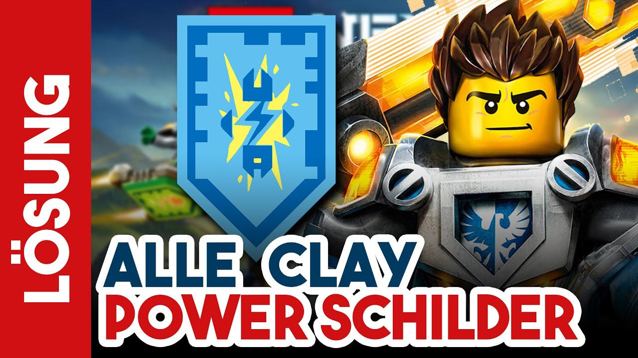 Lego Nexo Knights Deutsch Alle Power Schilder Zum Scannen Clay