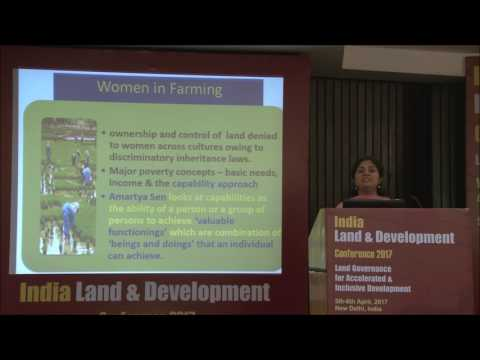 Session 5 Dimple Teresa Abraham's Presentation on Long Term Land Leasing for Empowerment of Women Fa