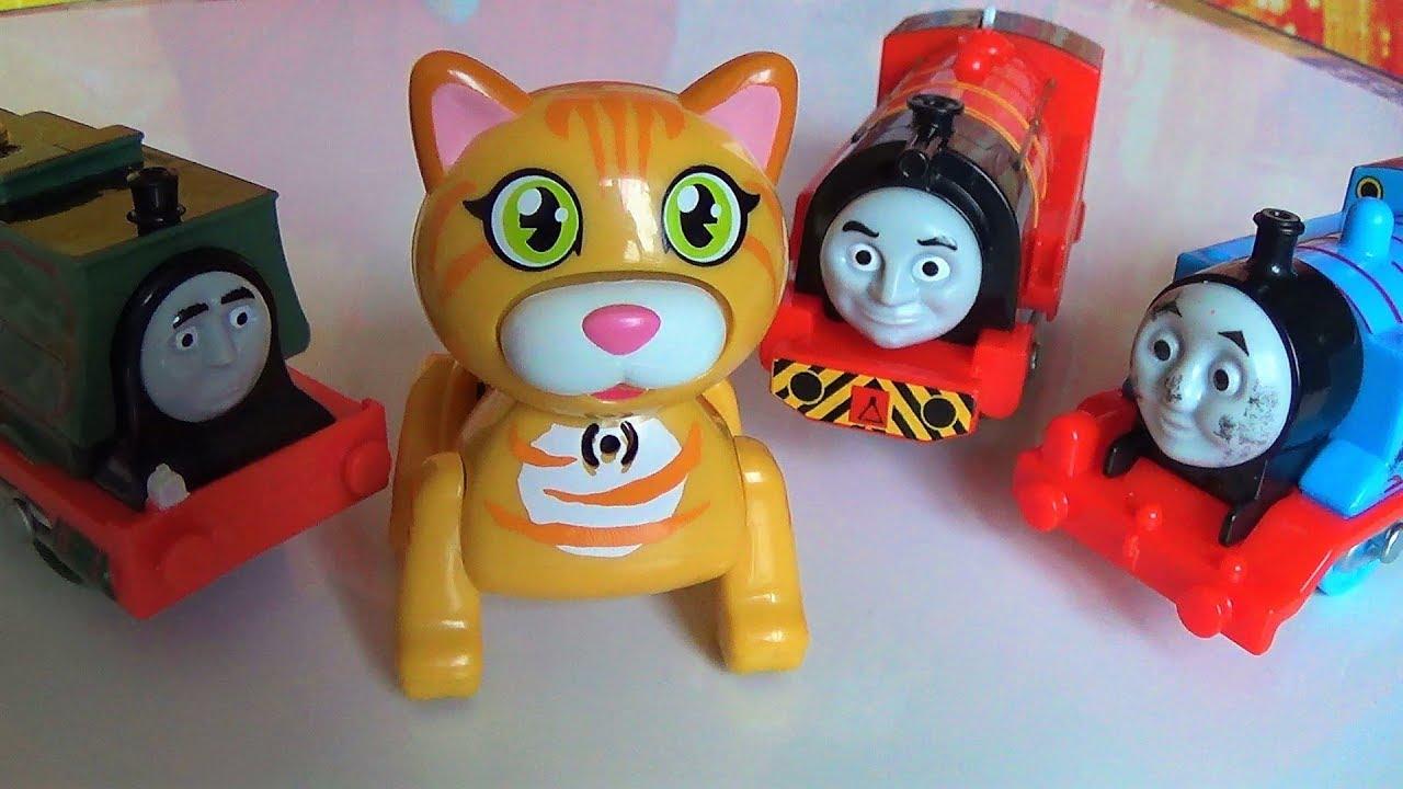 паровозик Томас и его друзья игрушки интерактивная кошка видео про игрушки для детей