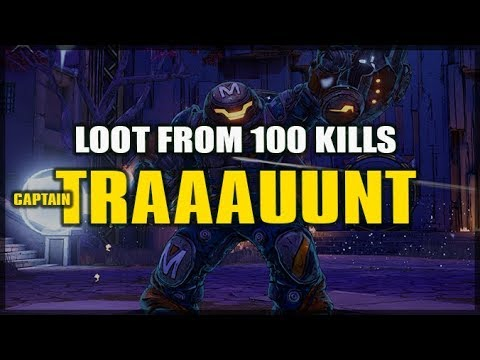Borderlands 3: Loot From 100 Captain TRAUNT Kills - Legendary Science! (Boss Farming)