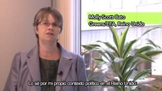 La Eurodiputada Molly Scott Cato apoya la paz en Colombia
