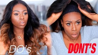 HOW I LAY /SLAY MY HAIR WEAVES, WIG & MY DOS AND DONTS