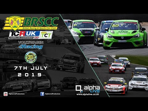 LIVE – TCR UK – Volkswagen Racing – BRSCC from Croft – 7th July 2019