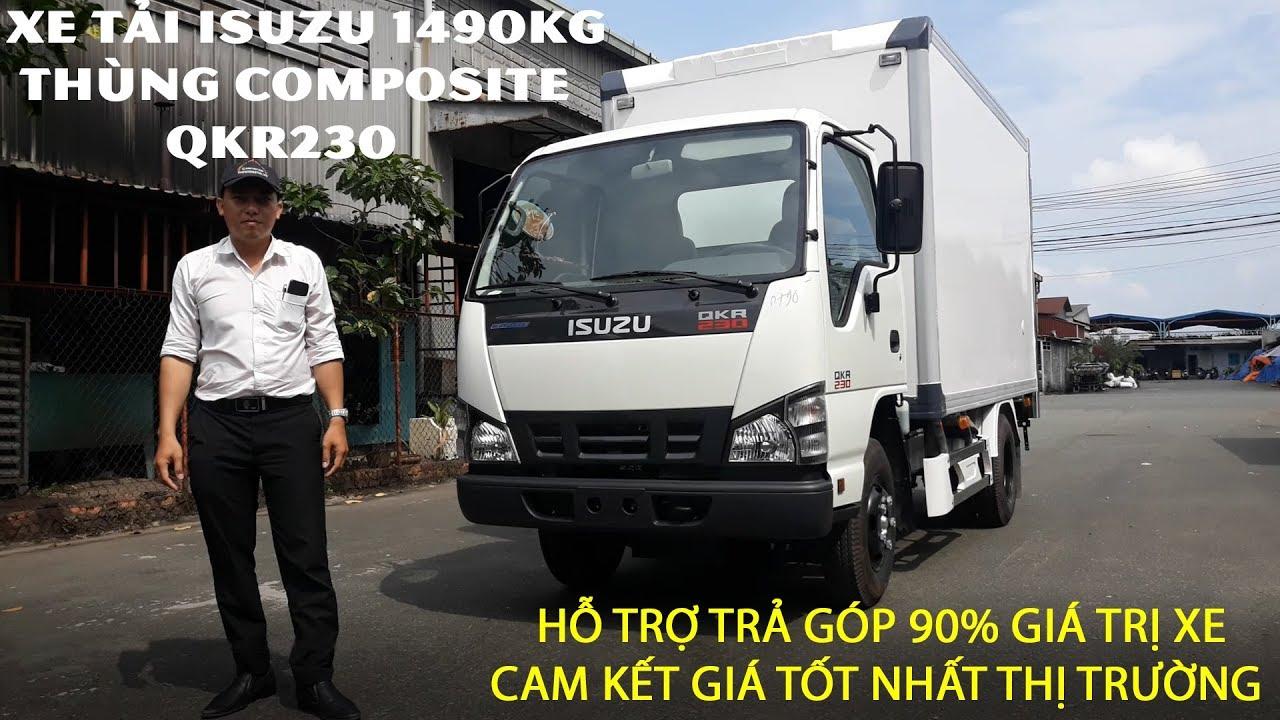 Xe Tải Isuzu 1T4 Thùng Kín Composite QKR77FE4 | Đánh Giá Xe Tải Isuzu QKR230 1490KG Vào Thành Phố - YouTube