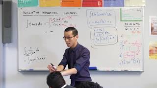 Integrating Trigonometric Functions (4 of 4: How do we integrate tan x?)