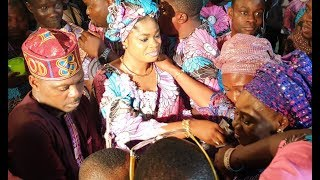 Eniola Ajao Kamilu Kompo Eniola Afeez Step Out To Dance With Kunle Afod39s Mum At Her Birthday