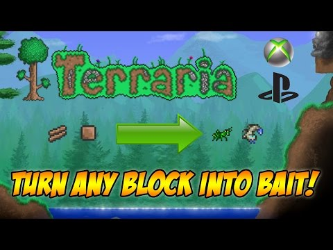 Terraria: Turn Wood/Dirt into Bait/Animals! Terraria 1.2.4 Spawning Glitch CONSOLE/MOBILE!