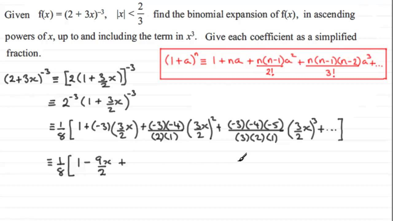 binomial expansion What are binomial expansions and where can they be used.
