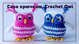Crochet amigurumi Owl  Instruction Амигуруми. Сова крючком