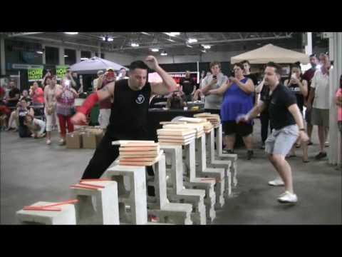 USBA/WBA World Record- Ken Goodrich- 139 1″ boards broken with hand strikes in 10 seconds- 5/2016