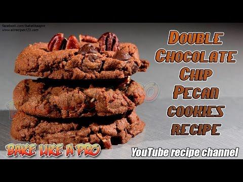Double Chocolate Chip Pecan Cookies Recipe