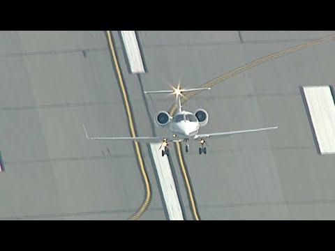 LearJet Takeoff Appears Nearly vertical!