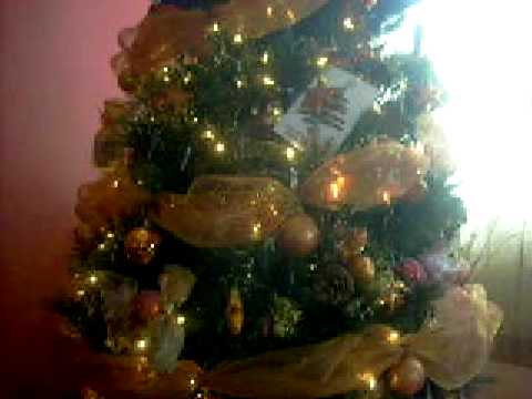 Video arreglo pesebre y rbol navidad 2008 youtube for Arreglo para puertas de navidad