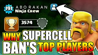 Actual Reason Behind Banning Top Players In Clash Of Clans