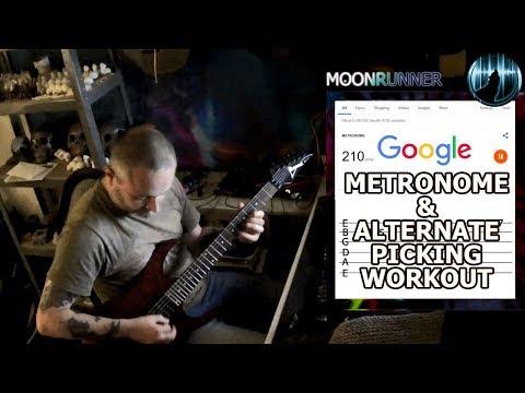 Google Metronome & Alternate Picking Workout For Guitar