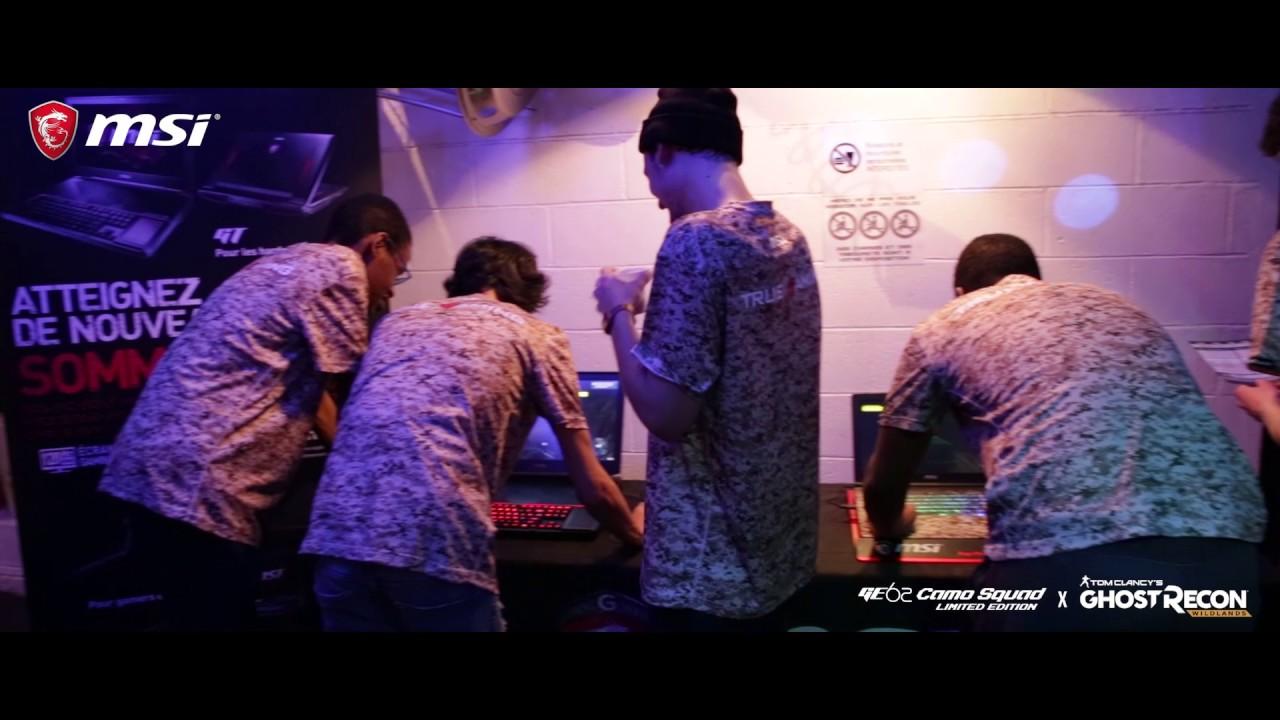 MSI organise une soirée Laser Game pour l'arrivée de ses notebooks Camo Squad
