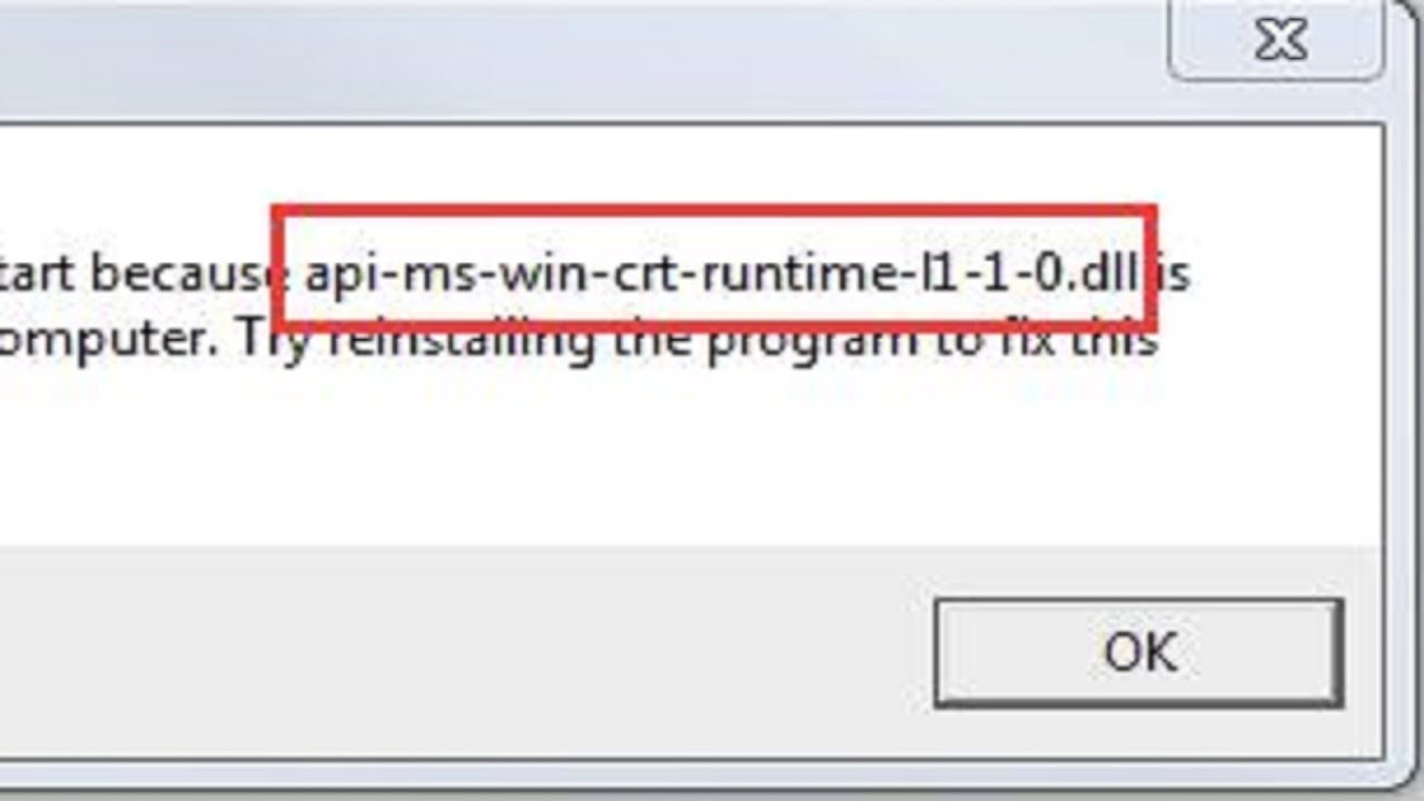 libreoffice the program cant start because api-ms-win-crt-runtime