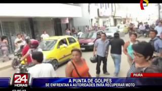 Piura: pobladores se enfrentan a fiscalizadores para recuperar motocicleta incautada