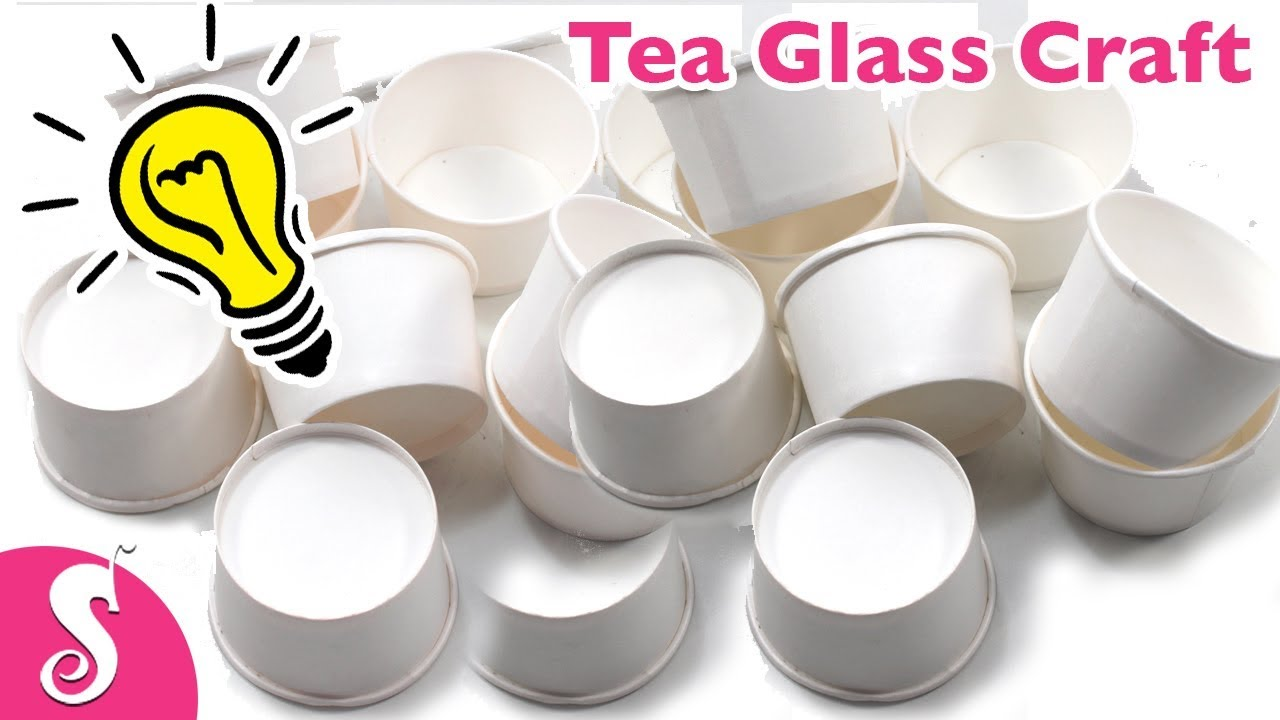 Cool Ideas of using Paper TEA GLASS | Best out of waste Crafts for ...