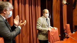 Torra se reúne con JxCat en el Parlament tras su vista en el Supremo