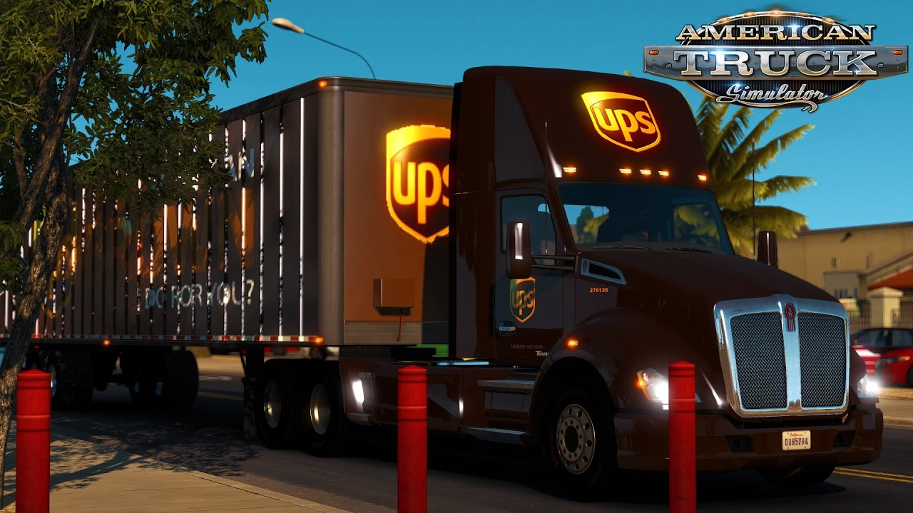 American Truck Simulator Ups Delivery Matching T680 And