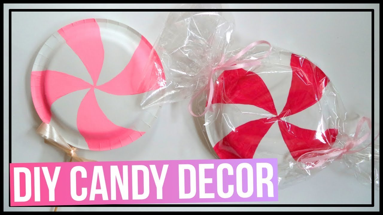 Diy Candy Decor Ideas Lollipop Peppermint Diys Made Out Of Paper Plates