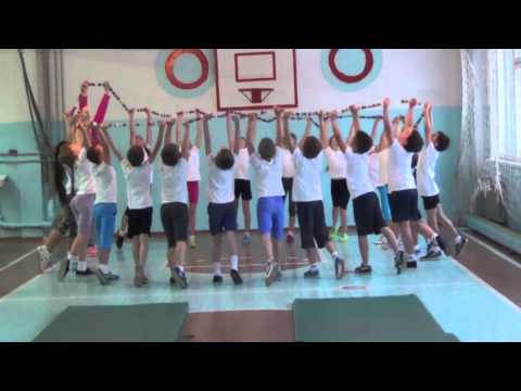 Урок физкультуры в 3 В  классе