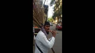 Indian Bamboo flute- street flute player