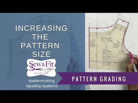 Grading up a Fashion Pattern to a larger size