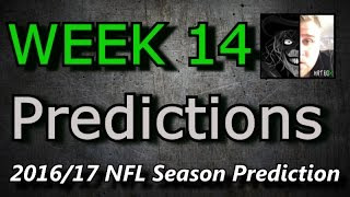 Week 14 - 2016 NFL Predictions
