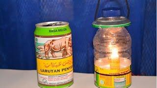 cara membuat lentera dari botol dan kaleng bekas