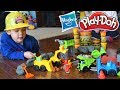 Pretend Play with Play-Doh Wheels Construction Playsets! How To Play With Play-Doh Wheels.