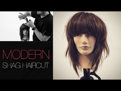 How To Cut A Modern Shag Haircut Step By Step Youtube