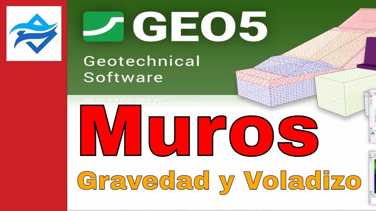 🔴 Software Geotécnico GEO5 - Configuración de Análisis - Muros de Gravedad  - Muros en Voladizo
