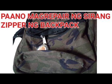 HOW TO REPAIR BROKEN ZIPPER ON BACKPACK/PAANO MAGREPAIR NG SIRANG ZIPPER NG BAG