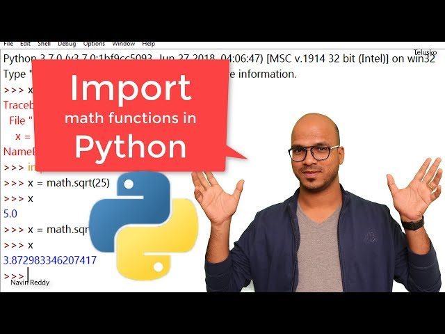 #16 Python Tutorial for Beginners | Import Math Functions in Python